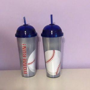 NWT Two 24oz baseball themed tumblers